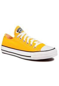 Żółte buty sportowe Converse z cholewką