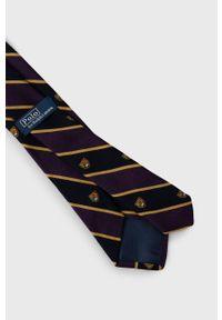 Polo Ralph Lauren - Krawat. Kolor: fioletowy. Materiał: materiał