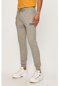 Szare spodnie dresowe Jack & Jones z nadrukiem