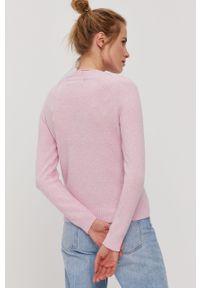 Różowy sweter Vero Moda gładki, raglanowy rękaw