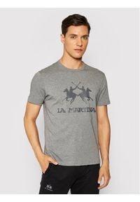 La Martina T-Shirt CCMR01 JS206 Szary Regular Fit. Kolor: szary