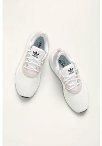 Białe sneakersy adidas Originals na sznurówki, Adidas X_plr, z okrągłym noskiem, z cholewką