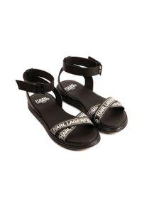 Czarne sandały Karl Lagerfeld na klamry, klasyczne