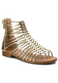 Złote sandały Nelli Blu