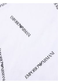 Emporio Armani T-Shirt 3H4TD7 4J09Z F112 Biały Regular Fit. Kolor: biały