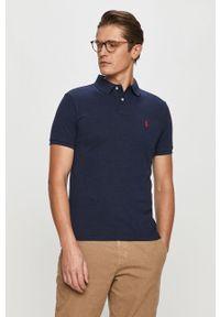 Niebieska koszulka polo Polo Ralph Lauren krótka, z aplikacjami, polo