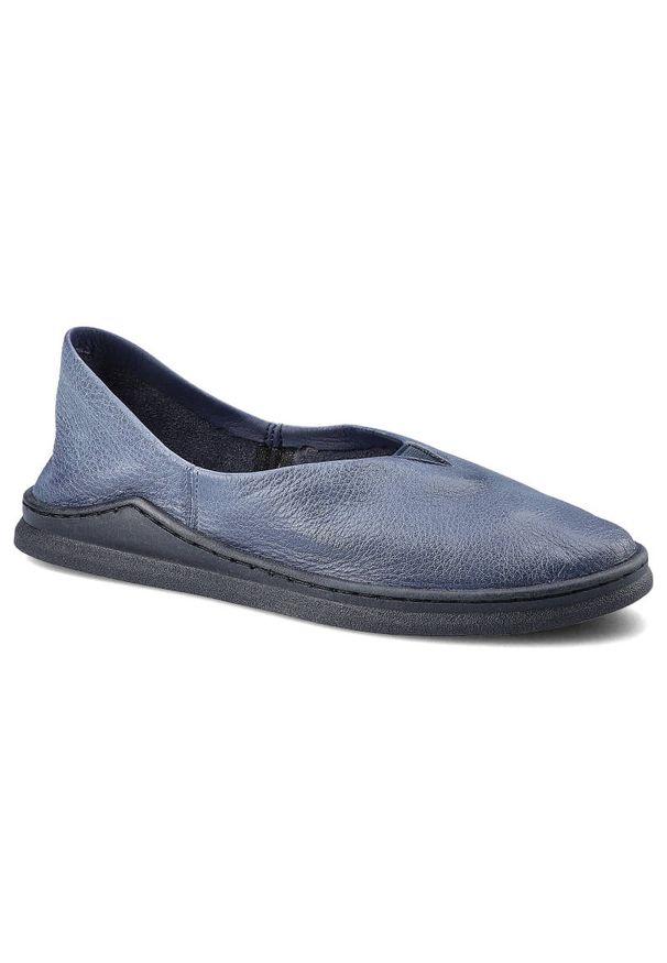Maciejka - Półbuty MACIEJKA 04078-17/00-0 Granat Na Jeans. Materiał: jeans