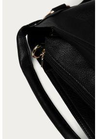 Czarna shopperka Answear Lab duża, na ramię, wakacyjna