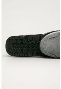 Szare buty sportowe Trussardi Jeans z cholewką, z okrągłym noskiem, na sznurówki