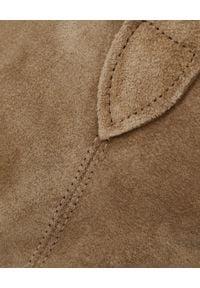 ISABEL MARANT - Kowbojki Dewina Taupe. Wysokość cholewki: za kostkę. Kolor: brązowy. Materiał: jeans. Szerokość cholewki: normalna. Wzór: kropki, aplikacja. Obcas: na obcasie. Wysokość obcasa: średni