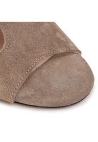 Beżowe sandały Oleksy casualowe, na co dzień