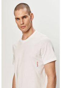 Biały t-shirt Hugo na co dzień, casualowy, gładki