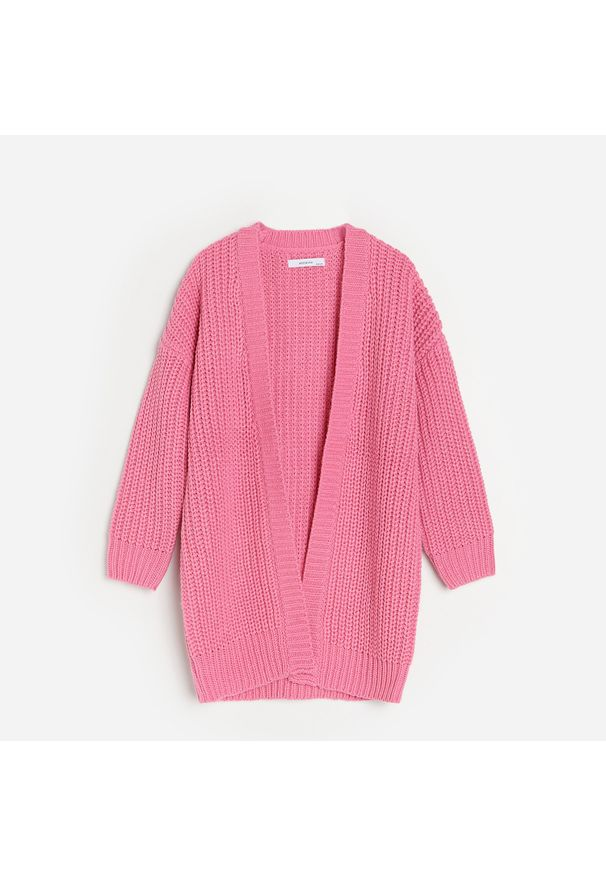 Różowy sweter Reserved długi
