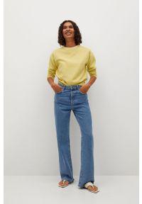 mango - Mango - Sweter Circle. Okazja: na co dzień. Kolor: żółty. Materiał: dzianina, materiał. Styl: casual