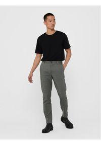 Only & Sons - ONLY & SONS Spodnie materiałowe Elyas 22017550 Szary Slim Fit. Kolor: szary. Materiał: materiał