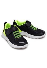 Superfit - Sneakersy SUPERFIT - 1-000211-0000 M Schwarz/Gelb. Okazja: na spacer. Zapięcie: rzepy. Kolor: czarny. Materiał: materiał. Szerokość cholewki: normalna