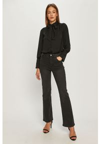 Szare jeansy Jacqueline de Yong z podwyższonym stanem