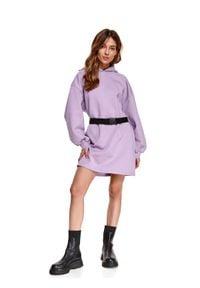 Fioletowa sukienka TOP SECRET sportowa, sportowa