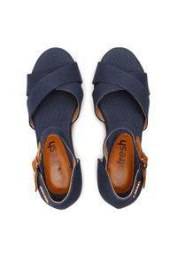 Refresh - Sandały REFRESH - 72879 Navy. Okazja: na co dzień. Kolor: niebieski. Materiał: materiał. Styl: casual