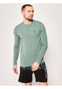 Zielona koszulka z długim rękawem EA7 Emporio Armani