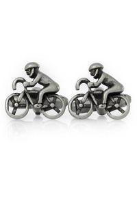 Adam Collection - Spinki do mankietów w kolorze starego srebra - kolarz, rowery A222