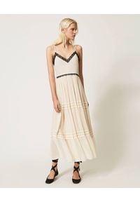 Beżowa sukienka TwinSet maxi, boho