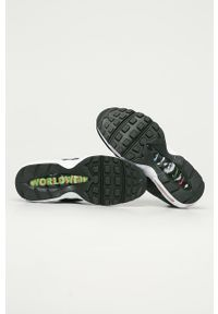 Czarne buty sportowe Nike Sportswear na sznurówki, z okrągłym noskiem, z cholewką