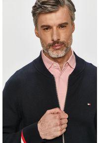 Niebieski sweter rozpinany TOMMY HILFIGER na co dzień, casualowy