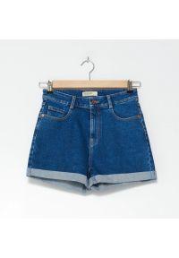House - Szorty jeansowe z wysokim stanem - Niebieski. Stan: podwyższony. Kolor: niebieski. Materiał: jeans