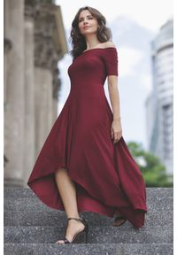 Sukienka koktajlowa gładkie, elegancka