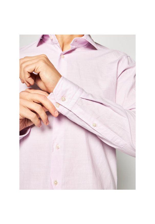 Różowa koszula casual Strellson