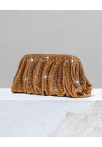 BENEDETTA BRUZZICHES - Kopertówka z kryształów Venus Large Temple of Iside. Kolor: złoty. Wzór: aplikacja. Styl: wizytowy. Rodzaj torebki: do ręki