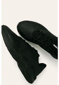 Czarne sneakersy Nike z cholewką, z okrągłym noskiem, na sznurówki