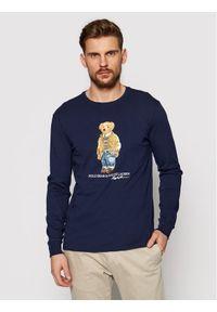 Polo Ralph Lauren Longsleeve Lsl 710828276001 Granatowy Slim Fit. Typ kołnierza: polo. Kolor: niebieski. Długość rękawa: długi rękaw