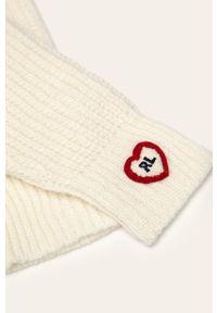Białe rękawiczki Polo Ralph Lauren
