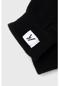 PRODUKT by Jack & Jones - Produkt by Jack & Jones - Rękawiczki. Kolor: czarny. Materiał: dzianina, materiał. Wzór: gładki