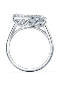 Srebrny pierścionek Swarovski z aplikacjami, metalowy