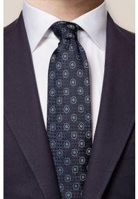 Eton - ETON - Krawat. Kolor: czarny