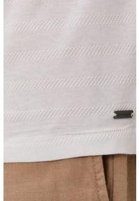 Tom Tailor - Polo. Typ kołnierza: polo. Kolor: biały. Materiał: dzianina. Długość: krótkie