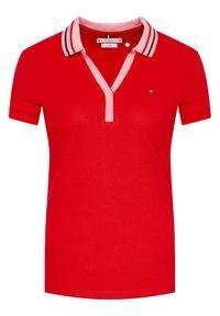 Czerwona koszulka polo TOMMY HILFIGER polo