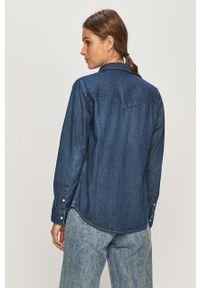 Niebieska koszula Levi's® na spotkanie biznesowe, biznesowa, długa, z klasycznym kołnierzykiem