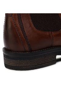 Brązowe buty zimowe Wrangler casualowe, z cholewką
