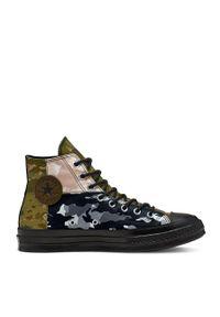 Converse - Trampki. Nosek buta: okrągły. Zapięcie: sznurówki. Kolor: zielony. Materiał: guma. Szerokość cholewki: normalna