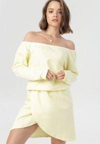 Born2be - Żółta Sukienka Metiothyia. Kolor: żółty