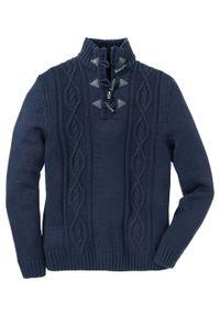 Niebieski sweter bonprix