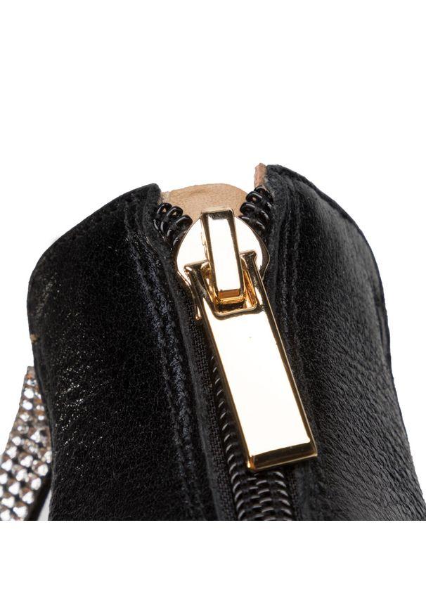 Czarne sandały Eva Longoria