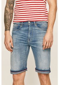 Niebieskie szorty Tommy Jeans na co dzień, casualowe