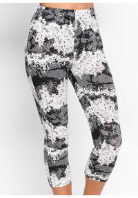 Piżama ze spodniami 3/4 bonprix czarny z nadrukiem