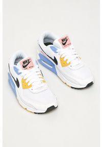 Białe buty sportowe Nike Sportswear na sznurówki, na średnim obcasie
