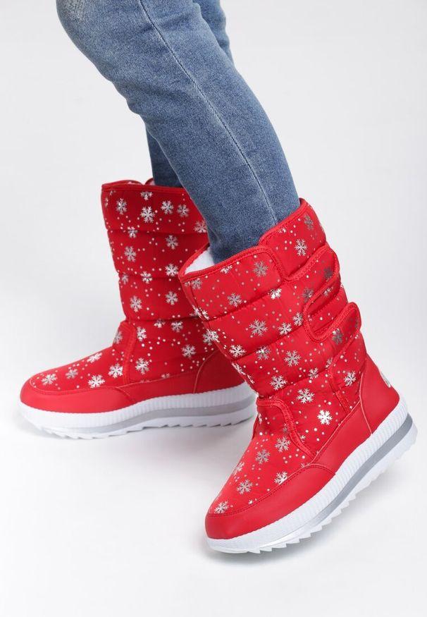 Czerwone śniegowce Renee